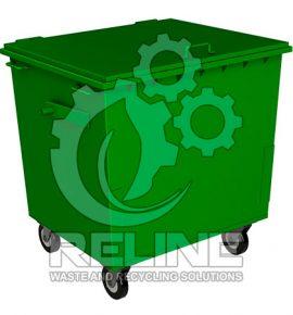 Контейнер для сміття 1100л металевий