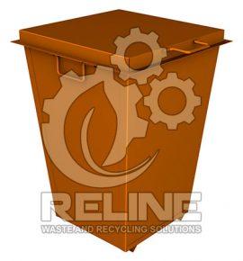 Сміттєвий контейнер 250л металевий