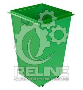 Бак для сміття 750л металевий