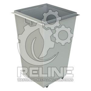 Бак для сміття 750л оцинкований